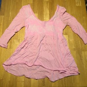 Pink Hollister Top